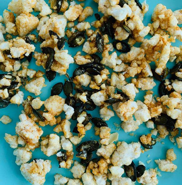 Süss, Scharfes Kürbiskern Popcorn