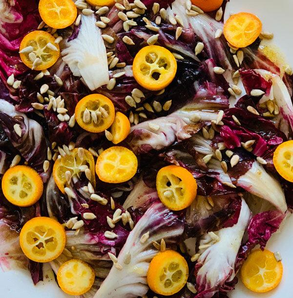 Warmer Radicchio Kumquat Salat