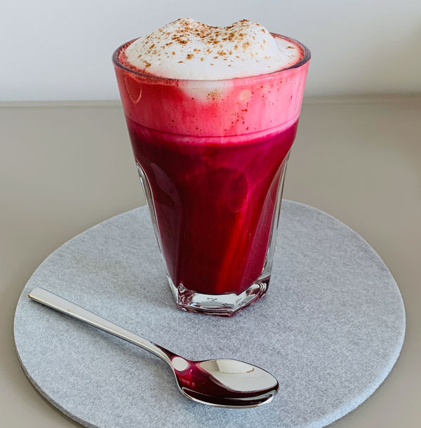 Rote Beete Zimt Cappuccino