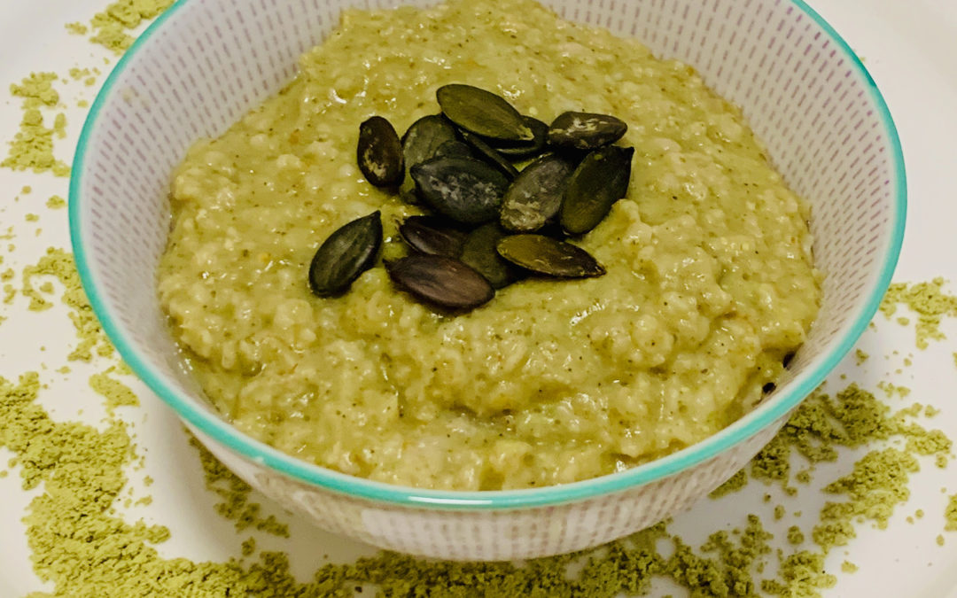 Kürbiskernprotein Porridge